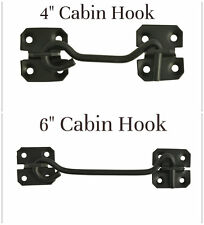 GEE TAC HORSE SILVER 2 X CABIN HOOK DOOR STABLE GATE HINGE LATCH SAFETY CATCH