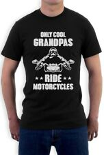 Only Cool Grandpas Ride Motorcycles - Biker Papa Gift Idea T-Shirt Grandfathers