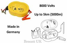 ELECTRIC PIG FENCE ENERGISER - 8000 VOLT (8KV) FOR UP TO 5KM FENCE - 12VOLT