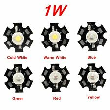 1W High Power LED PCB Bulb Beads Chips Car Indoor Reading Lamp Aquarium Heatsink