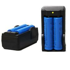 4X 6000mAh BRC 3.7v 18650 Ricaricabile Li-ion Battery +2X Smart Dual Caricatore