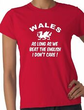 Wales Beat English 6 Nations Welsh Rugby Ladies T-Shirt Size S-XXL