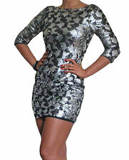 New Dress Sequin Evening Party Bodycon Womens Sexy New Black Size 8 10 12 14 16