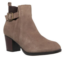 NEU SKECHERS Damen Stiefel Stiefelette Boots Booties Velourleder TAXI Taupe