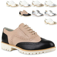 Modische Damen Halbschuhe Brogues Dandy Style 890786 New Look