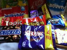 PACK OF BRITISH CHOCOLATE BARS, FRUIT SWEETS, CADBURY'S, MARS, NESTLE, ROWNTREE