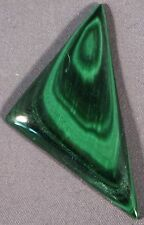POLISHED NATURAL MALACHITE  FREEFORM DESIGNER TRIANGLE CABOCHON 50x26mm / 9g
