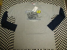 Jimmie Johnson #48 Lowe's Manga Larga Chase Camiseta! Tallas M,L,XL,2XL 7414
