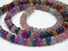 Genuine Natural Multicolor Umba Sapphire Smooth Rondelle Beads - 9