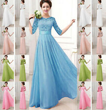 New Formal Long Evening Ball Gown Party Prom Bridesmaid Dress Stock Size S-XXL