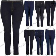 Ladies Stretchy Plus Size Jeggings Womens Long Leggings Jeans Skinny Trousers