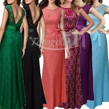 SEXY WOMEN'S SLEEVELESS PROM BALL COCKTAIL PARTY MAXI DRESS FORMAL EVENING GOWNS