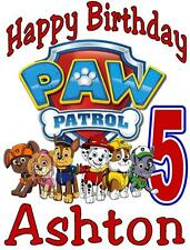 PAW PATROL BIRTHDAY T-SHIRT Personalized Any Name/Age 2T to Adult