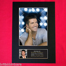 SIMON COWELL Mounted Signed Photo Reproduction Autograph Print A4 13