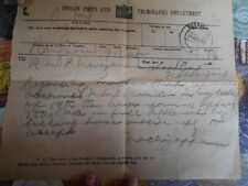 telegram telegraph 1935 Content + Cover , Rangoon to india George Period - t130