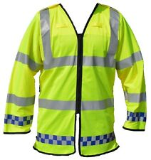 New Ex Police Hi Viz Lightwight 3/4 Over Coat Traffic Cycle Recovery Security