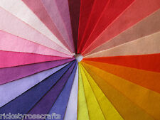 """WOOL MIX FELT 9"""" SQUARE HOT SHADES - HALF PRICE WHEN YOU BUY 5 (ebay.co.uk only)"""