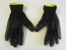 Mens Protective Mechanical Nylon Nitrile Palm Coated Nitrotouch Work Gloves