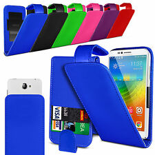 regulable Funda de piel artificial, con tapa para Samsung Galaxy S5 mini Duos