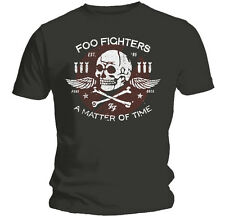 Official Foo Fighters Unisex Grey Matter Of Time T Shirt ALL SIZES Tee NEW