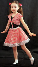 Red Gingham Country Girl/Oklahoma 2 piece Dance outfit Great for Dance Show