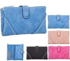 LADIES FASHION SOFT FAUX LEATHER ZIP SMALL COIN PURSE WOMENS WALLET CARD HOLDER