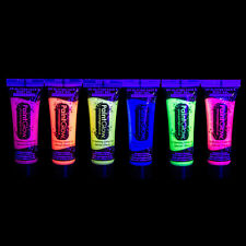 UV GLITTER Glow In The Dark BODY & FACE PAINT Party Rave Festival Club Halloween