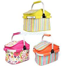 3 Color Portable Insulated Cooler Picnic Lunch Carry Tote Storage Bag Handbag