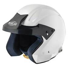 Sparco Pro J Open Face Race/Racing/Rally Helmet - White - With HANS Posts