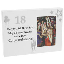 Reflections Block Style Birthday Photo Frame for 18th 21st 40th NEW Gift Idea
