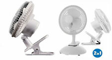 NEW PORTABLE DESK TOP FAN HOME OFFICE CLIP ON ELECTRIC AIR COOLING TABLE TOP