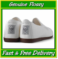 Genuine Flossy Shoes White Size UK3 EU36 Plimsoll Original Flossy Not Javer