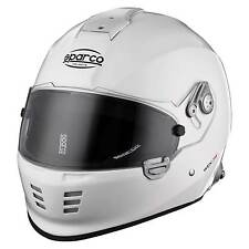 Sparco WTX-5W Full Face Race/Racing/Rally Helmet In White With HANS Posts