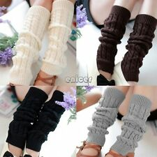 Mujeres Tejer Crochet Calentador de la pierna Leggings Socks Leg Warmer 6 Colors