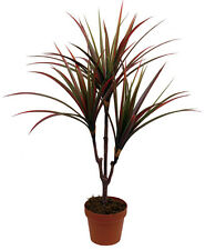 Best Artificial 3ft 90cm Red Dracaena Tree Plant Tropical House Garden Palm