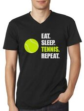 Eat Sleep Tennis Repeat - Tennis Player Gift Sports V-Neck T-Shirt Novelty
