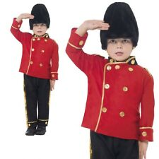 London Busby Guard Costume Boys Soldier Royal Fancy Dress Outfit