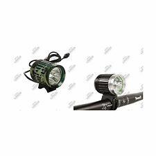 3 LED J LIGHT MAX 4000 LUMEN 8800 MAH TORCIA BICI BICICLETTA MTB BATTERIA LITIO