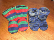 BNWT BOYS JOULES PADABOUT STRIPED/HARE FLUFFY SLIPPERS SIZE S,M OR L.RRP £14.95