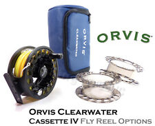 ORVIS Clearwater LA Casette Fly Reel, Spare Spools & Various LINE LOADED OPTIONS