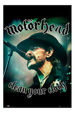 Motorhead Clean Your Clock Lemmy Poster New - Maxi Size 36 x 24 Inch