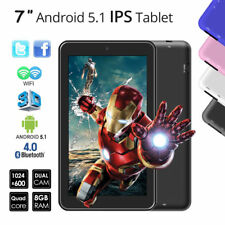 "8GB 7"" Zoll IPS Quad Core 1024x600 HD Android 5.1 Touchscreen WIFI Tablet PC Pad"