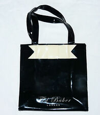 TED BAKER, SWEET SMALL BLACK TOTE BAG, CREAM BOW