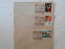 3 Special Covers SET - 1977 - INSURANCE FOR THE YOUTH - MADURAI - india -  se28