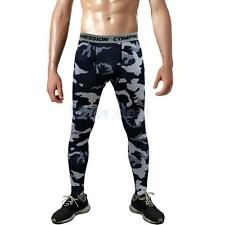 HERREN sporthosen fitnesshosen Laufen COMPRESSION TRAINING Gym Leggings pants