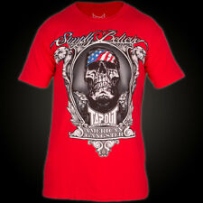 Tapout T-Shirt Chael Sonnen American Gangster in Rot