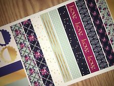 Vintage Gold Extras Pocket, Personal Planner Stickers for All Planners Types