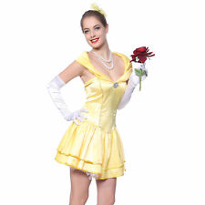 Sexy Ladies Belle Princess Fairy Tale Beauty & Beast Fancy Dress Costume Outfit