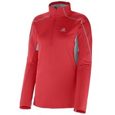 Salomon Discovery HZ 2 Midlayer W poppy/light onyx Fleecepullover Gr. XS-L Damen