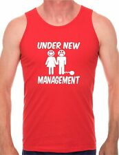 Under New Management Stag Do Present Mens Vest Tank Gym Athletic Top Size S-XXL